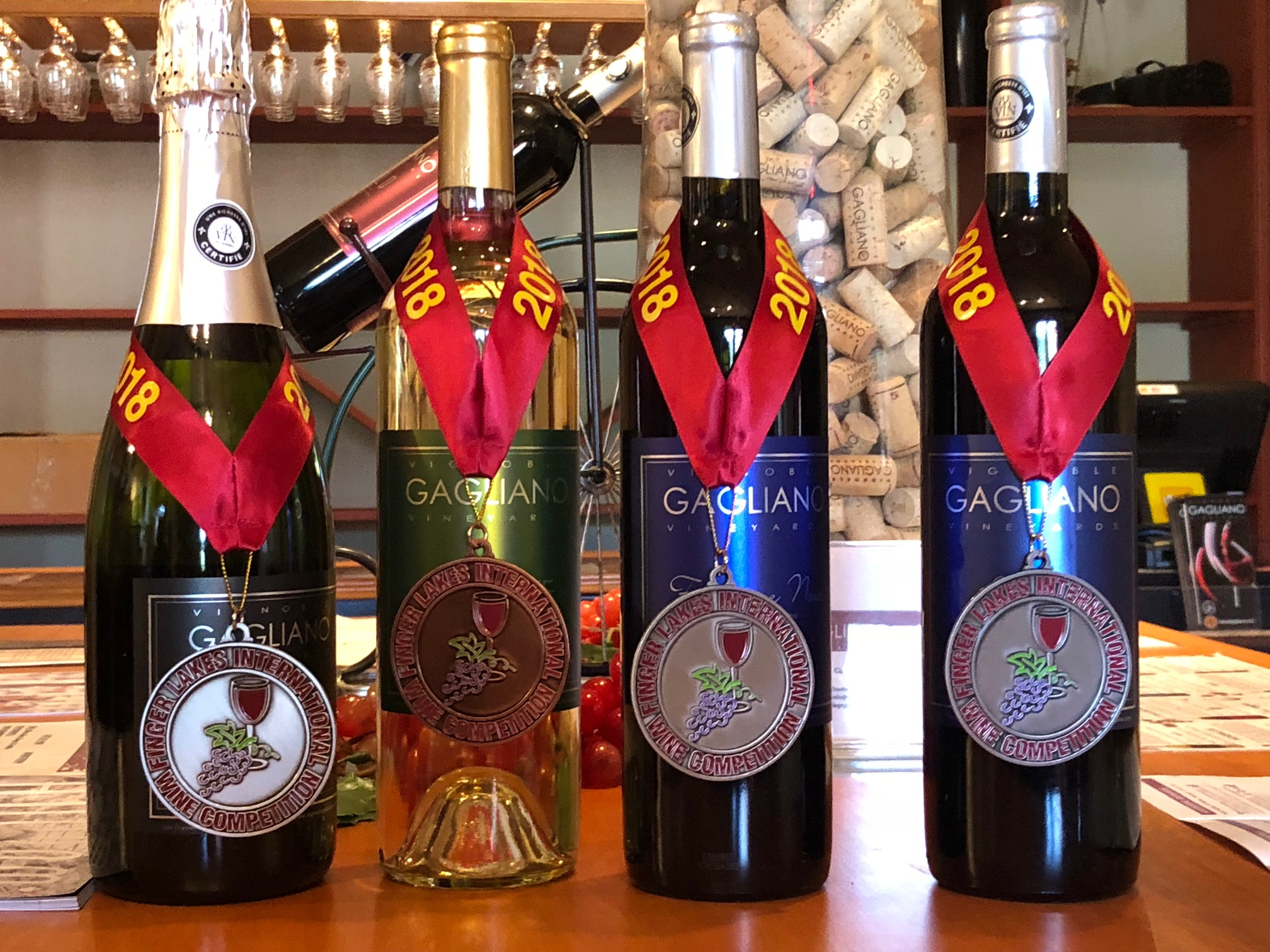 Silver & Bronze Medals at the 2018 Finger Lakes International Wine Competition