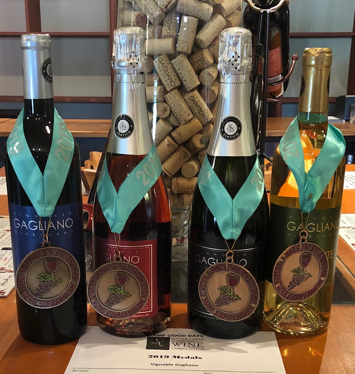 Bronze Medals at the 2019 Finger Lakes International Wine Competition