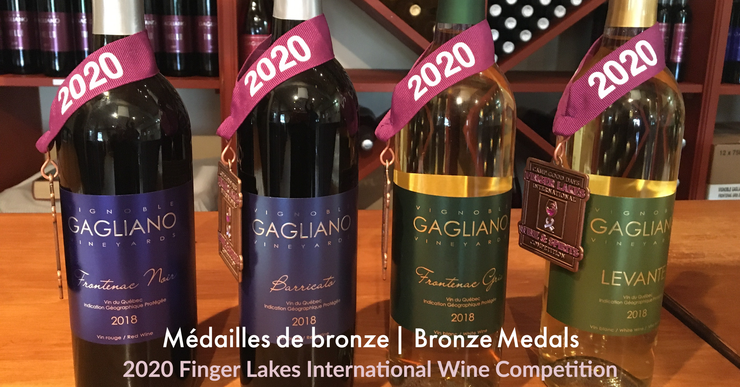 Bronze Medals at the 2020 Finger Lakes International Wine Competition