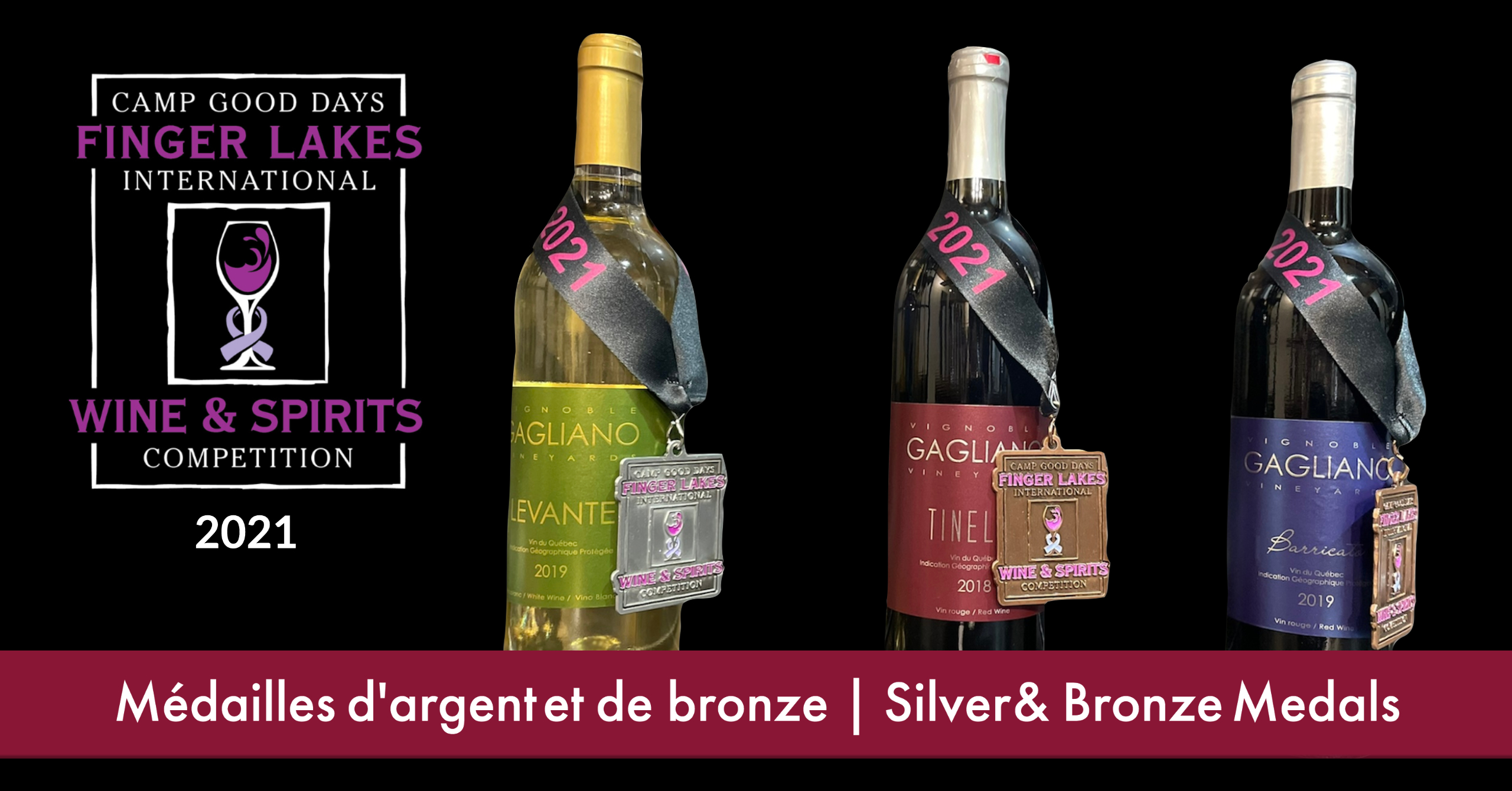 Silver & Bronze Medals at the 2021 Finger Lakes International Wine Competition